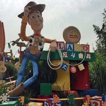 Sheriff Woody welcomes you to Toy Story Land - Hong Kong Disneyland, Hong Kong, China