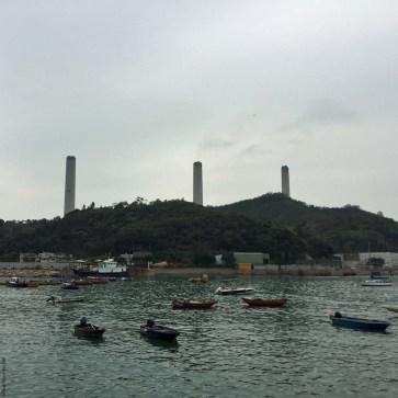 View of Lamma Power Station from Yung Shue Wan, Lamma Island - Hong Kong, China