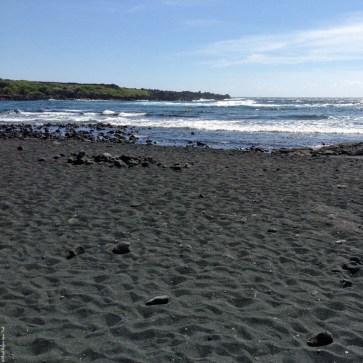 Punalu'u Black Sand Beach Park - Big Island, Hawaii, USA
