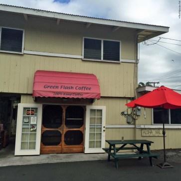 Entrance to Green Flash Coffee - Kailua-Kona, HI