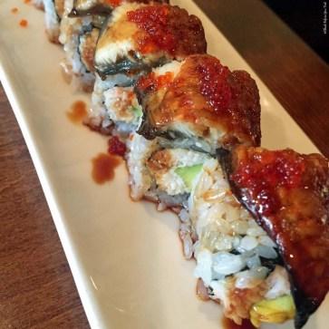 Sushi roll with unagi at Monstera Noodles and Sushi - Kohala Coast, HI