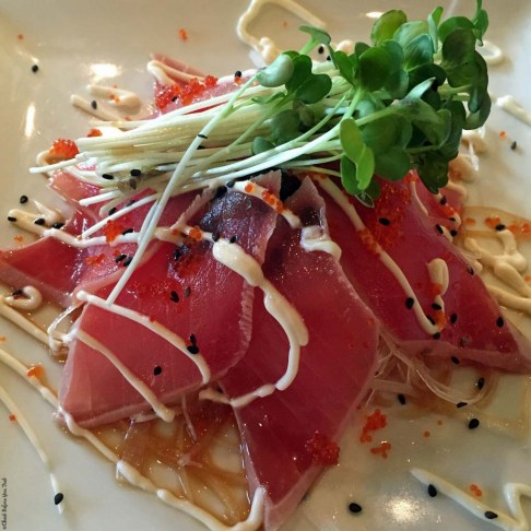 Tuna Tataki at Monstera Noodles and Sushi - Kohala Coast, HI