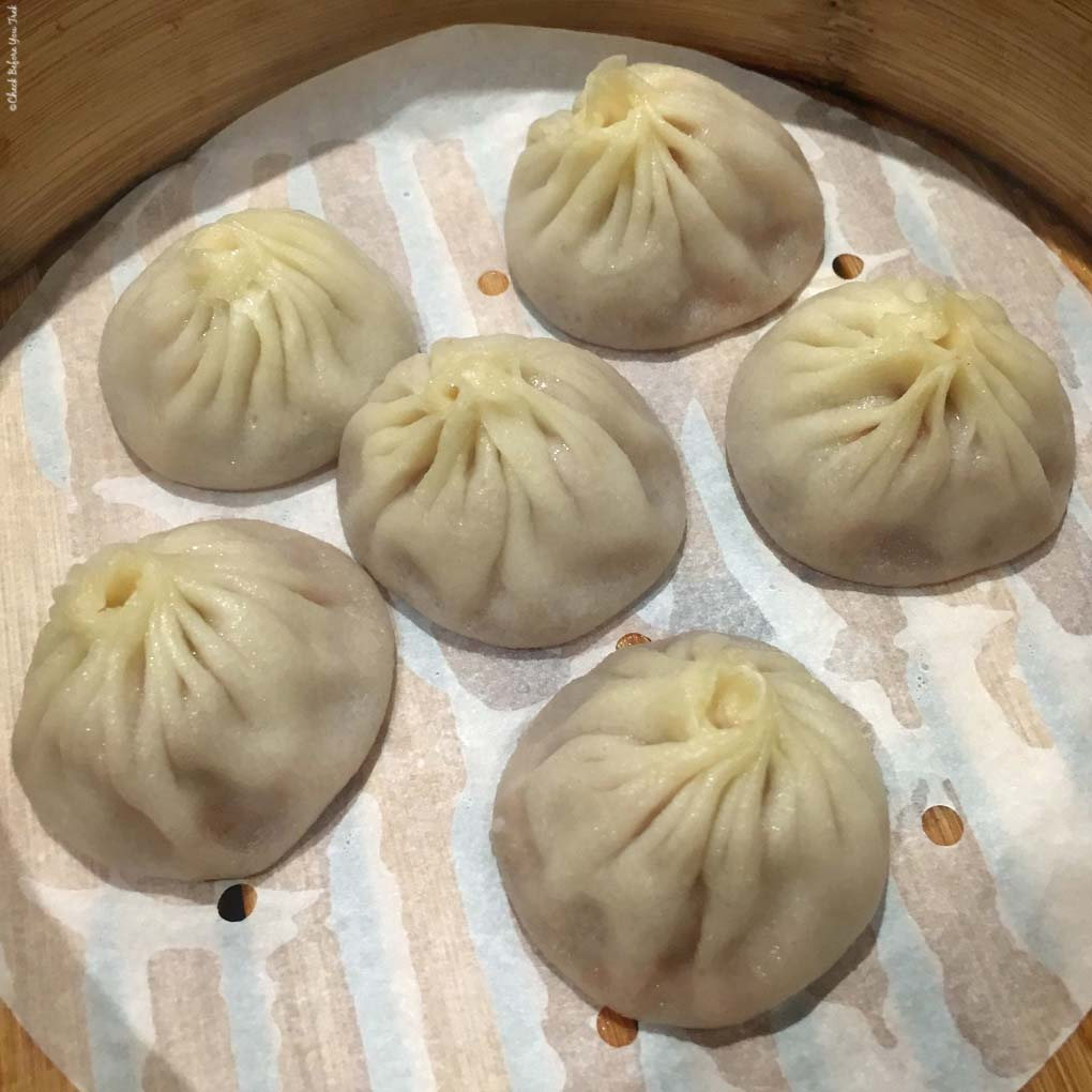 Xiao Long Bao (Soup Dumpling) at Dinesty Dumpling House on Robson Street - Vancouver, British Columbia, Canada