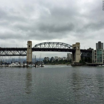 Burrard Bridge and False Creek as seen from Granville Island - Vancouver, British Columbia, Canada