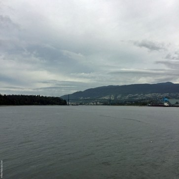 View of Lions Gate Bridge from Stanley Park - Vancouver, British Columbia, Canada