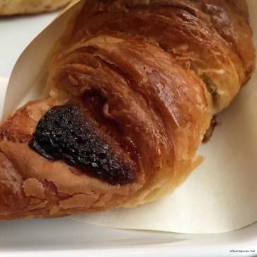 Close up of a Choco Cro at St. Marc Cafe - Hiroshima, Japan