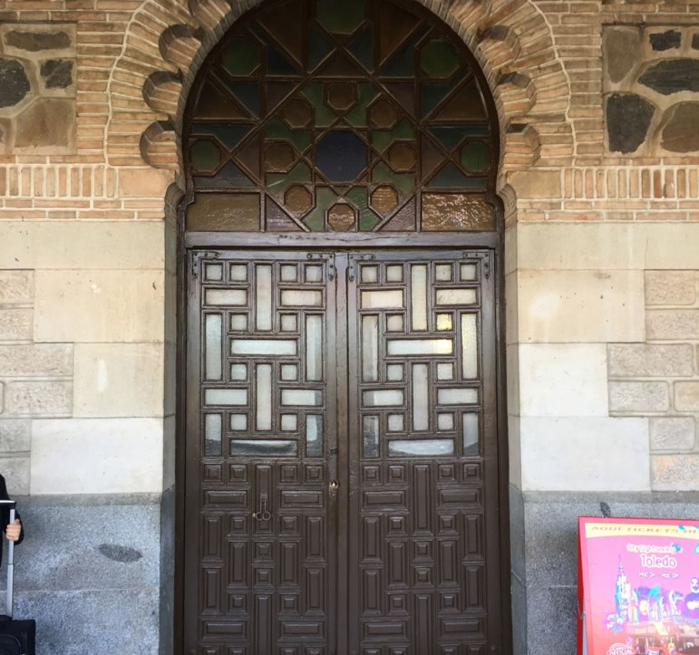 old door at the Toledo Spain train station