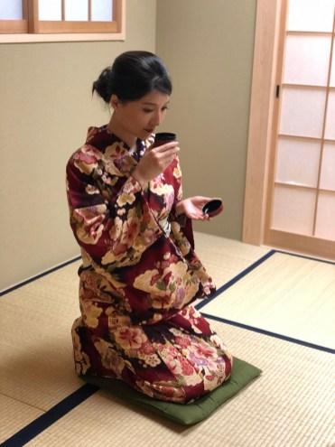 Tea ceremony experience.