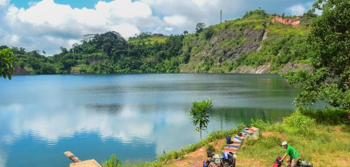 The Blue Lake in Bomi County is a tourist destination in Liberia