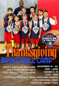 thanksgiving basketball camp 2018