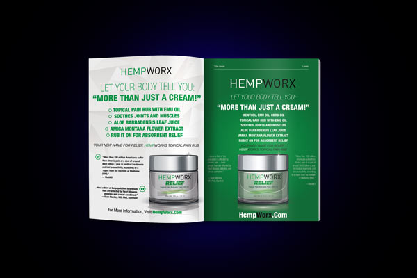 HempWorx Thrive Magazine Ad Comp