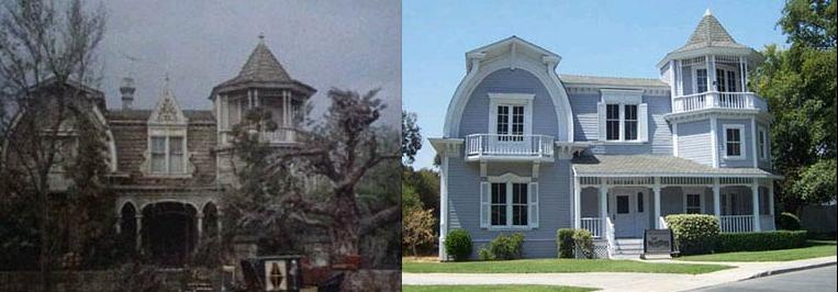 Left as the Munster's Mansion in the 1960's sitcom. Right as Betty Applewhite's house in Desperate Housewives
