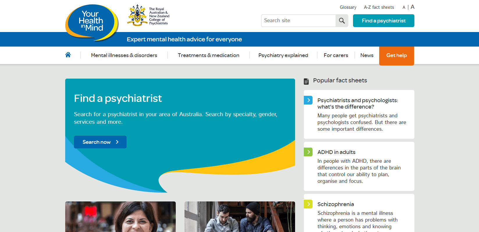 RANZCP Launches Your Health In Mind – Mental Health Information Resource