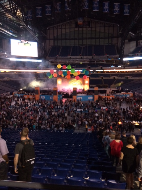 Concert stage at Lucas Oil. This was very cool.