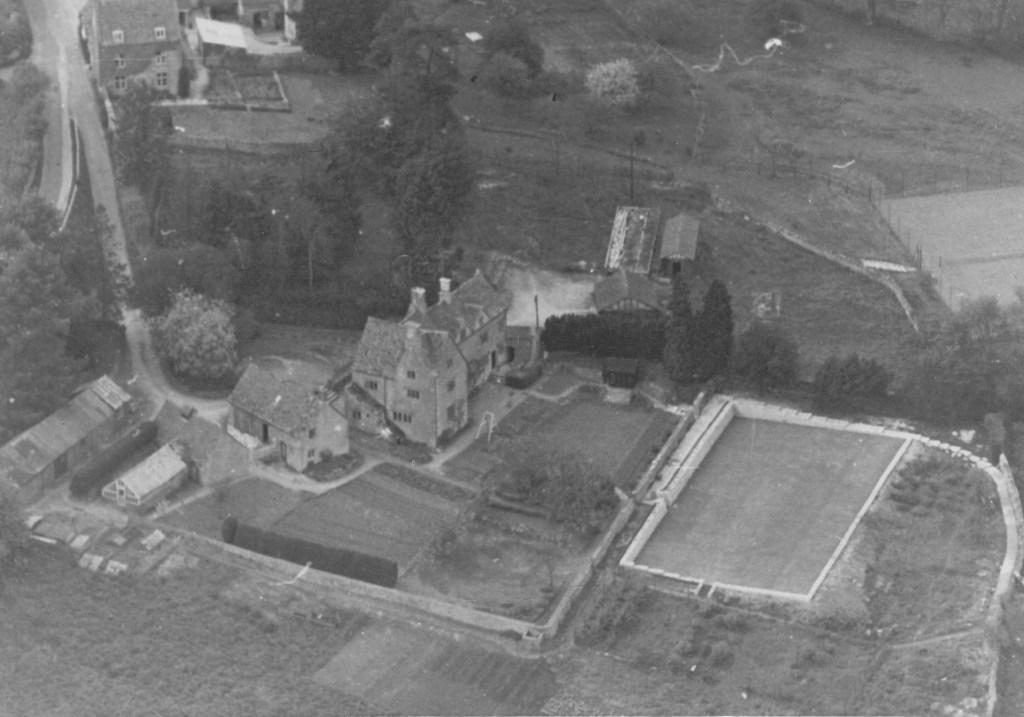 Old Farm from the air. Photograph courtesy of Sally Orman. Aerial photograph taken from south to north of Old Farm, Hawke Lane circa 1923. Mike Tovey.