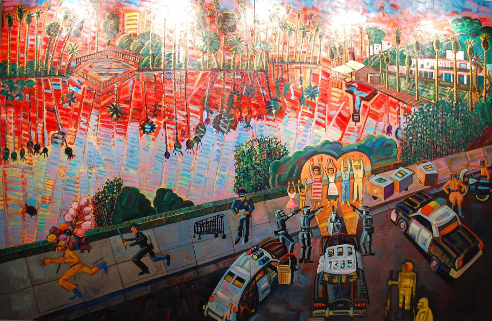 Chicano Now! American Expression by Frank Romero from Cheech Marin's art collection