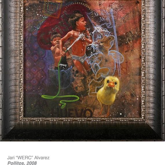 "Jari ""Werc"" Alvarez, Pollitos 2008 from Cheech Marin's hispanic art collection"