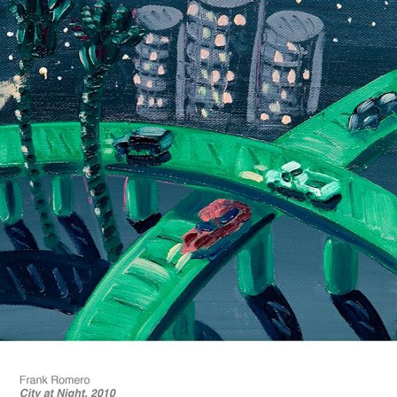 Frank Romero, City at Night from The hispanic art collection of Cheech Marin