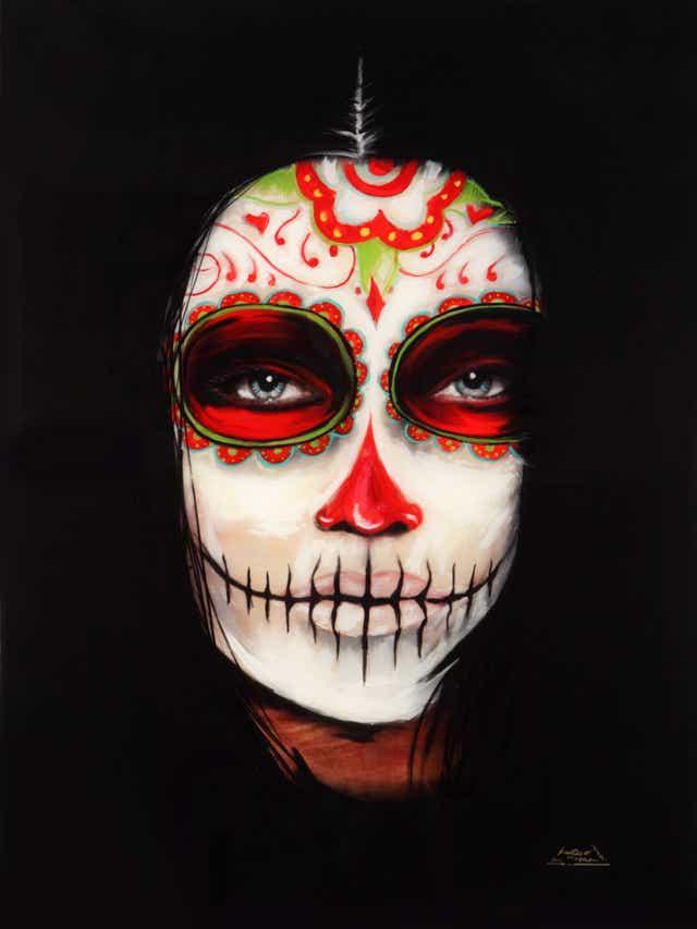 La Mirada by Gustavo Alex Vargas from Cheech Marin's chicano art collection
