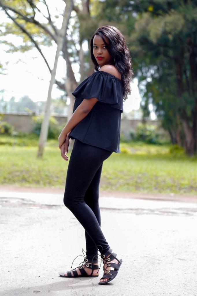 Cheekily Chic Sunny Days Off Shoulder Fashion Style 3