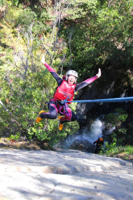 canyoning in queens town new zealand