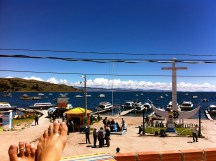 Lake Titicaca. Copacabana, Bolivia