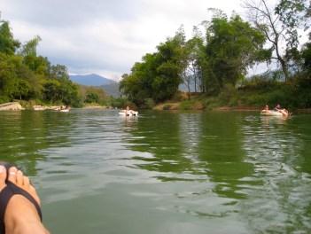 tubing down the river vang vieng laos