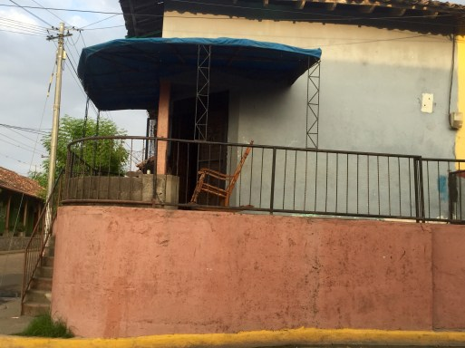 classic Nicaraguan rocking chair on calle in Granada Nicaragua