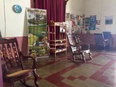 classic Nicaraguan rocking chair in guesthouse in Granada Nicaragua
