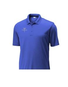 Mens Disc Golf Tournament Polo Blue, CHEENGZ, Disc Golf Apparel