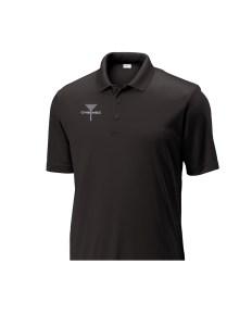 Mens Disc Golf Tournament Polo Black, CHEENGZ, Disc Golf Apparel