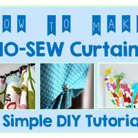 9 DIY Tutorials How To Make NO-SEW Curtains
