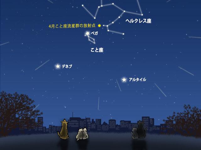 こと座流星群 時間
