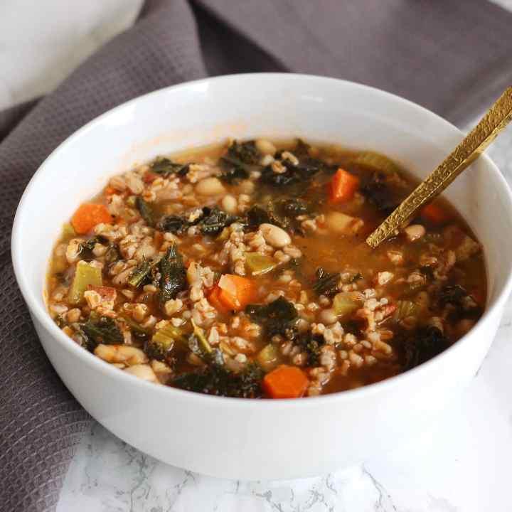 One-Pot Tuscan Farro Soup