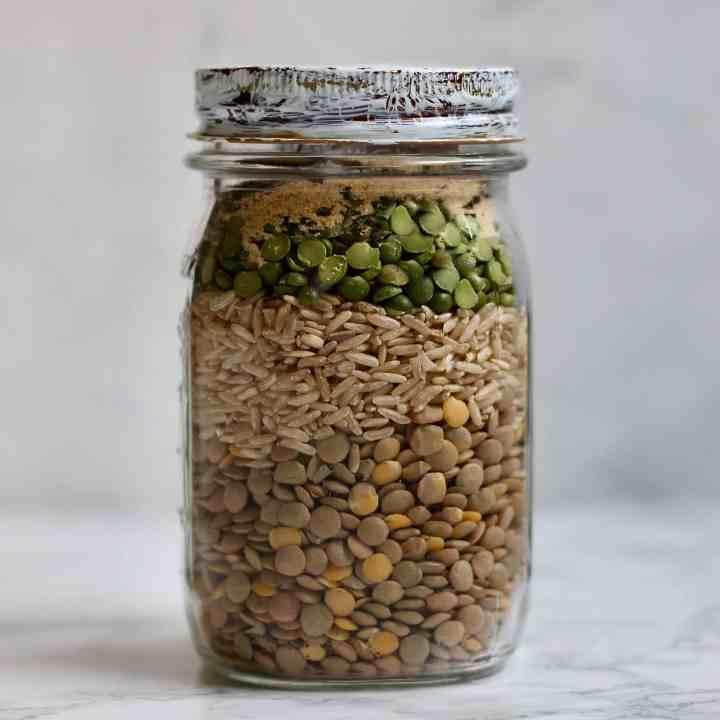 Lentil Brown Rice Dry Soup Mix