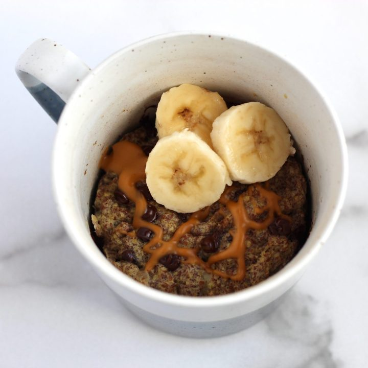 Banana Chocolate Chip Flax Mug Muffin