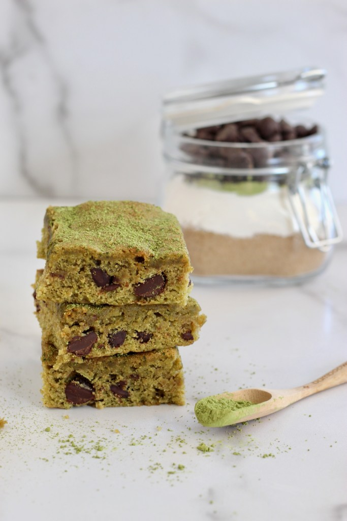 Matcha Brownies are a fun spin on the classic dessert. This homemade mix in a mason jar makes for a unique holiday gift. Printable gift tag included too!