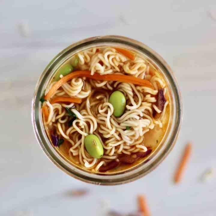 Healthy Ramen Noodles in a Jar