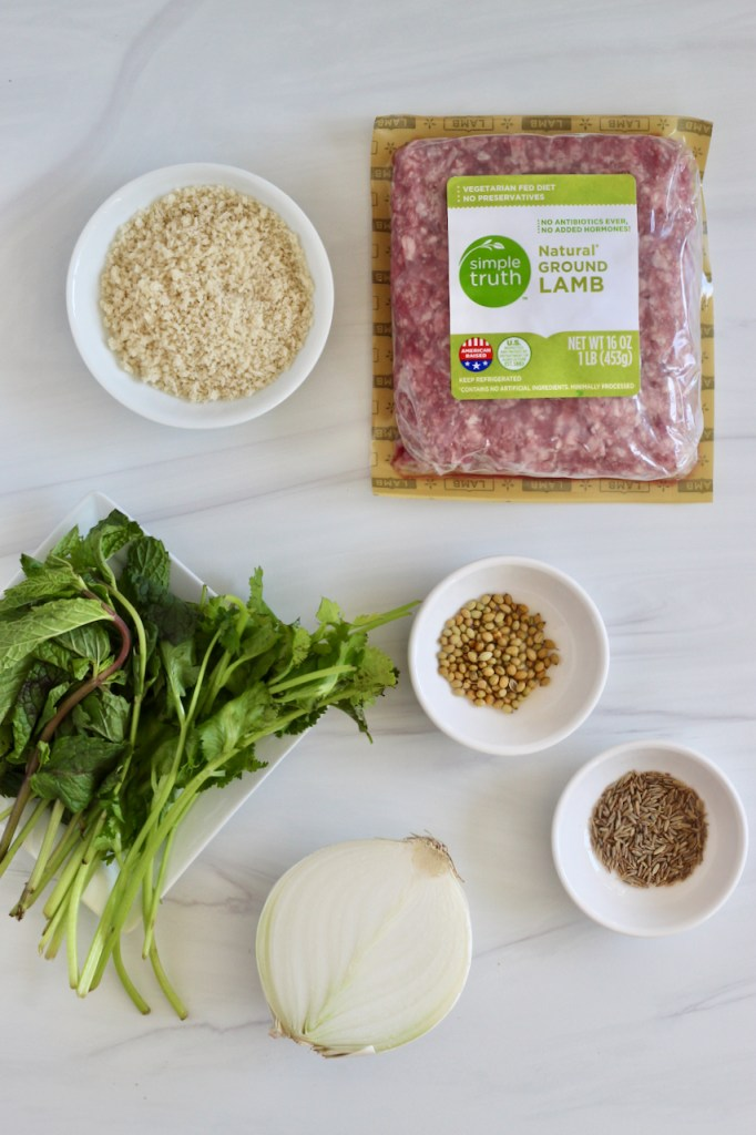 Ingredients on a white backdrop