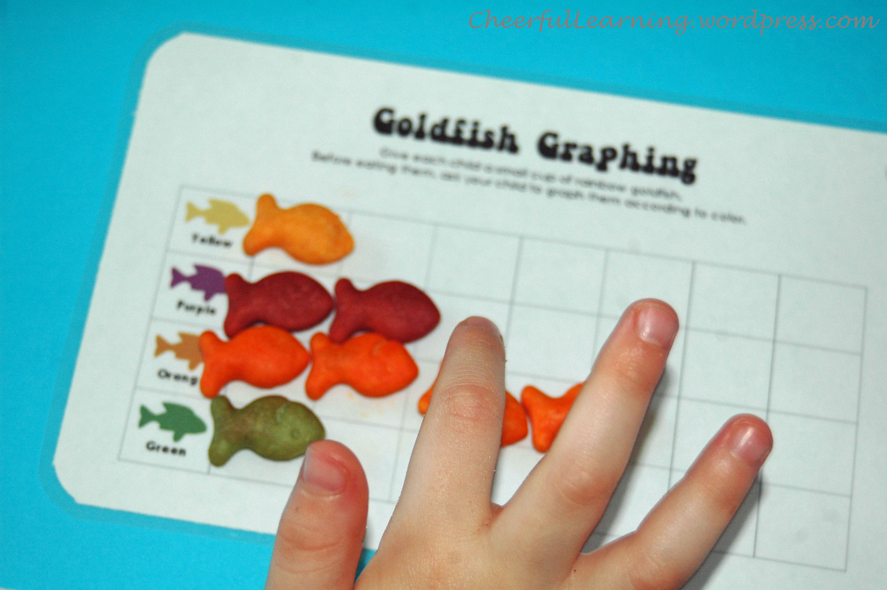 Goldfish Counting Worksheet For Preschoolers Goldfish