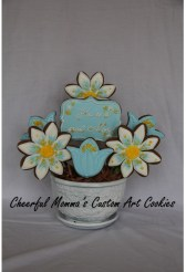Mother's Day Cookie Bouquet by CheerfulMomma's Custom Art Cookies