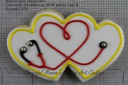 Stethoscope Cookie by Cheerful Momma's Custom Art Cookies