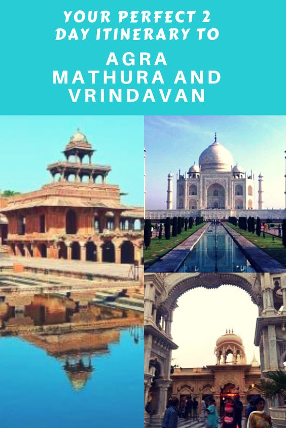These sites allow you to witness both the heritage and cultural aspects in India. This #Agra, #Mathura and #Vrindavan itinerary would be a great idea for weekend travelers or the ones who want to explore these places on a 2 day schedule. #india
