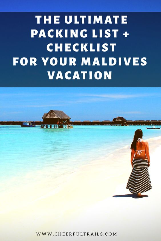 Ultimate Packing List For Maldives - What To Pack For Maldives
