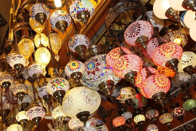 Vibrant Lanterns In Grand Bazaar