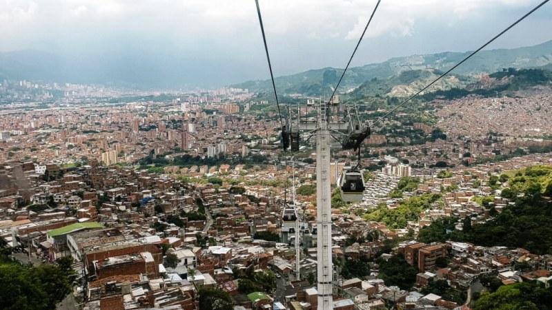 Cable Car Views of Medellin