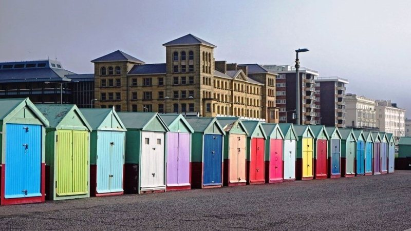 Hove Beach Huts - Things to do in Brighton on a day trip