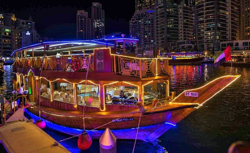 Dhow Cruise, Dubai Creek - Best Places To Visit In UAE