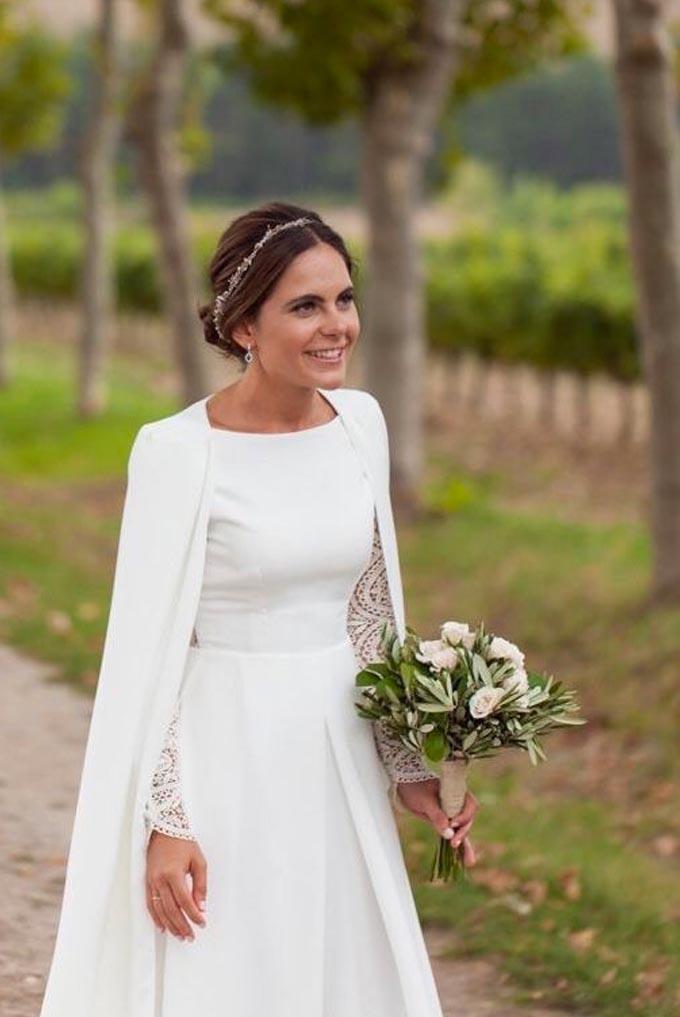 Vestido de noiva para casamento em dias frios Cheers