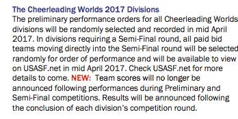 Score Change Worlds 2017